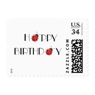 Happy Birthday Bug Postage Stamp