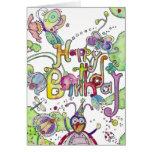 Happy Birthday - Bugs Greeting Card