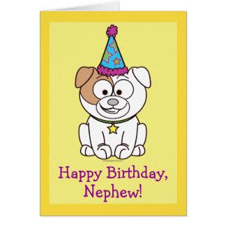 Happy Birthday Bulldog Nephew Greeting Card