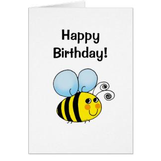 Happy birthday! (bumble bee) greeting card