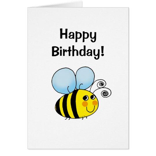 Happy birthday! (bumble bee) card