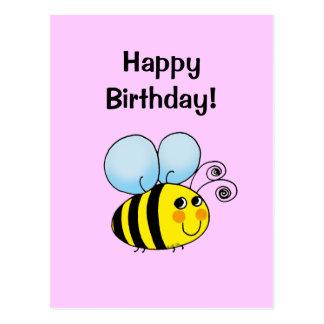 Happy Birthday! (bumble bee) Postcard