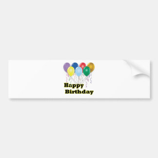 Happy Birthday Bumper Sticker Balloons D3