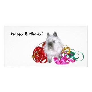 Happy Birthday Bunny Custom Photo Card