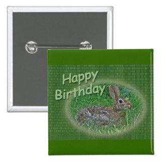 Happy Birthday Bunny Rabbit Cordinating Items Pinback Button