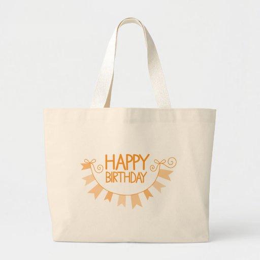 HAPPY BIRTHDAY BUNTING LARGE TOTE BAG
