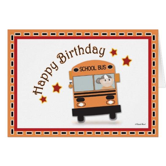 Happy Birthday Bus Driver Card Zazzle