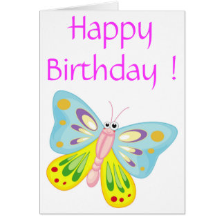 """HAPPY BIRTHDAY"" BUTTERFLY CARD"