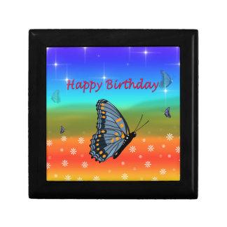 Happy Birthday Butterfly Gift Box