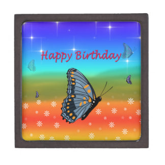Happy Birthday Butterfly Jewelry Box