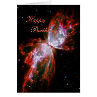 Happy Birthday - Butterfly Nebula in Scorpius Card