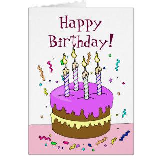 Happy Birthday! Cake 4 YEAR Greeting Card