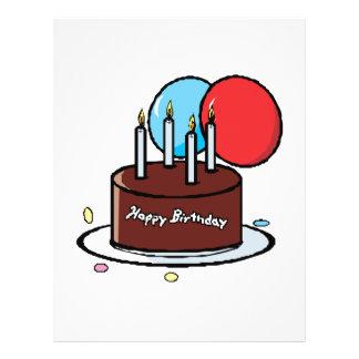"""Happy Birthday Cake 8.5"""" X 11"""" Flyer"""