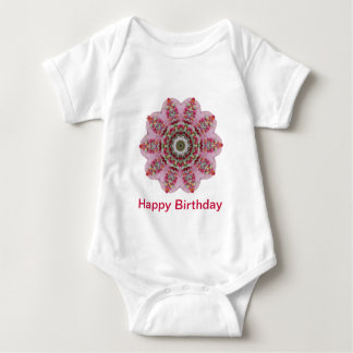 Happy Birthday Cake Abstract design Baby Bodysuit