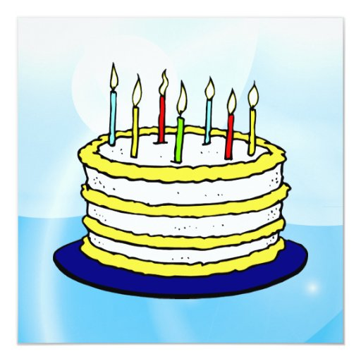 Birthday Cake With Lit Candles Images : Happy Birthday Cake and Lit Candles on Light Blue ...