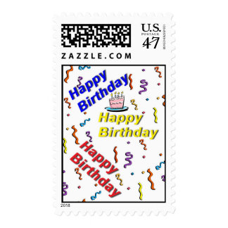 Happy Birthday Cake Birthday Postage