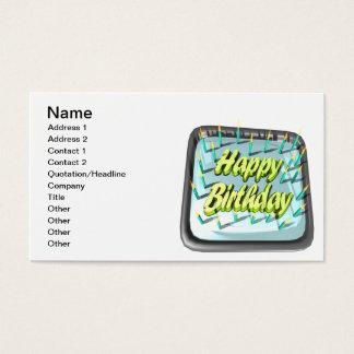 Happy Birthday Cake Business Card