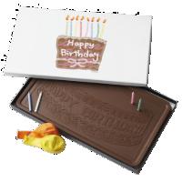 happy birthday cake candles 2 pound milk chocolate bar box