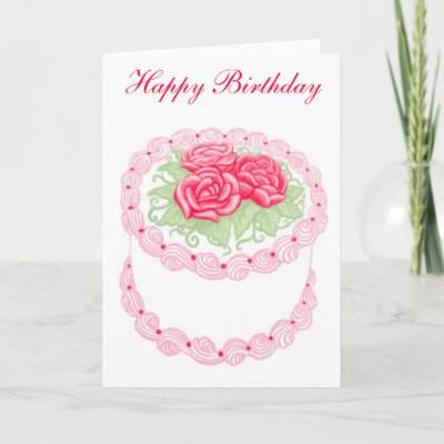 Happy Birthday Cake Card by twopurringcats