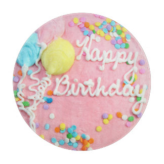 Happy Birthday Cake Cutting Board