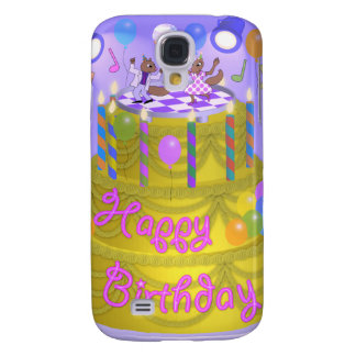 """Happy Birthday"" cake (English) Samsung Galaxy S4 Cover"