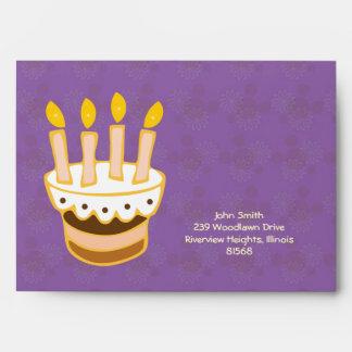 Happy Birthday Cake Envelope