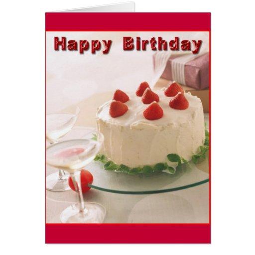 Happy Birthday Cake Greeting Cards Zazzle