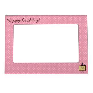 Happy Birthday Cake Magnetic Frame