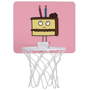 Happy Birthday Mini Basketball Hoops Zazzle