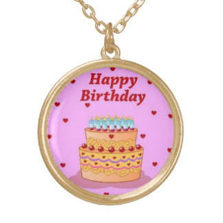 Happy Birthday Cake Necklace