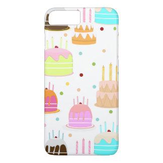 Happy Birthday Cake Pattern iPhone 7 Plus Case