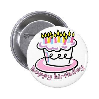 Happy Birthday cake Pinback Button