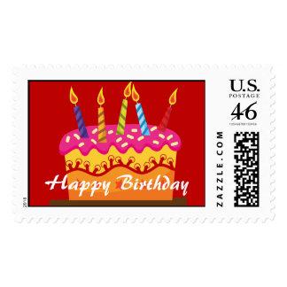 Happy Birthday Cake Postage