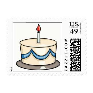 HAPPY BIRTHDAY CAKE POSTAGE STAMP
