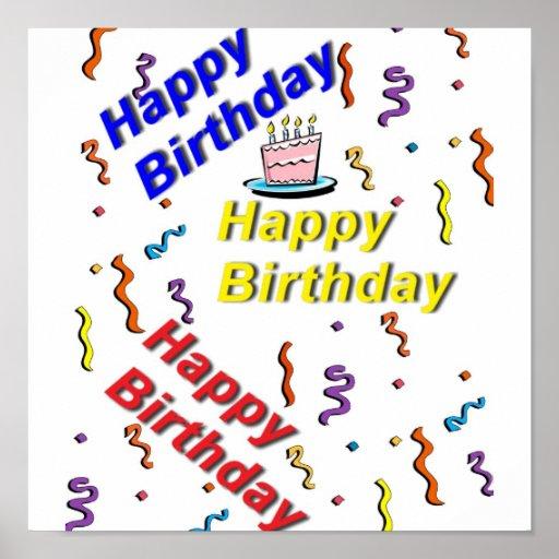 Birthday Cake Posters Art Prints : Happy Birthday Cake Posters, Happy Birthday Cake Prints ...