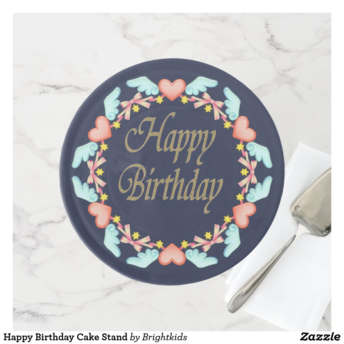 Happy Birthday Cake Stand