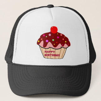 Happy Birthday Cake Trucker Hat