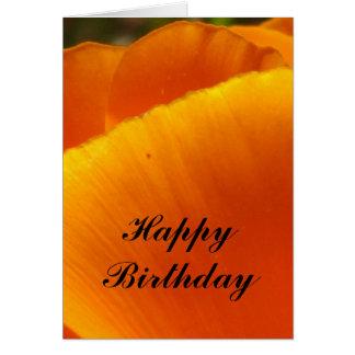 Happy Birthday California poppy Card
