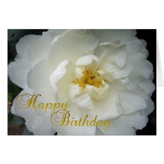 Happy Birthday Camellia Card