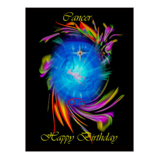Happy Birthday CAN cerium - cancer Poster
