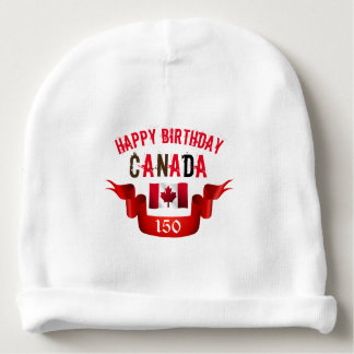Happy Birthday Canada 150th Birthday - Baby Beanie
