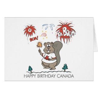 Happy  Birthday Canada Card