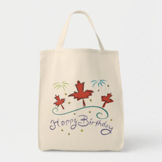 Happy  Birthday Canada Tote Bag
