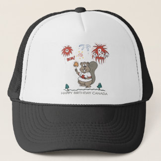 Happy  Birthday Canada Trucker Hat