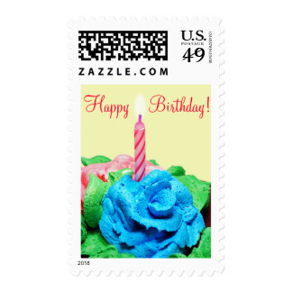 Happy Birthday Candle Postage Stamp