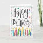 """Happy Birthday Candles 2 - Personalize Card<br><div class=""""desc"""">Happy Birthday Candles 2 - Personalize with your own special message! - You can change background color too!</div>"""