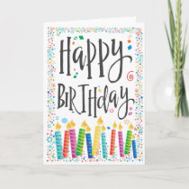 Happy Birthday Candles 2 - Personalize Card