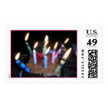 Happy Birthday Candles and Cake Postage Stamp