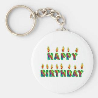 Happy Birthday Candles Birthday Keychain