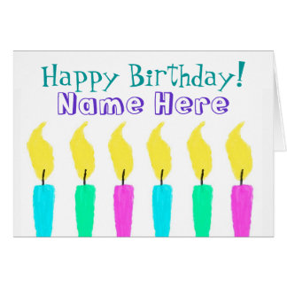 Happy Birthday Candles Card